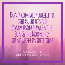 don't compare yourself to others, there's no comparison between the sun & the moon they shine when its their time-2